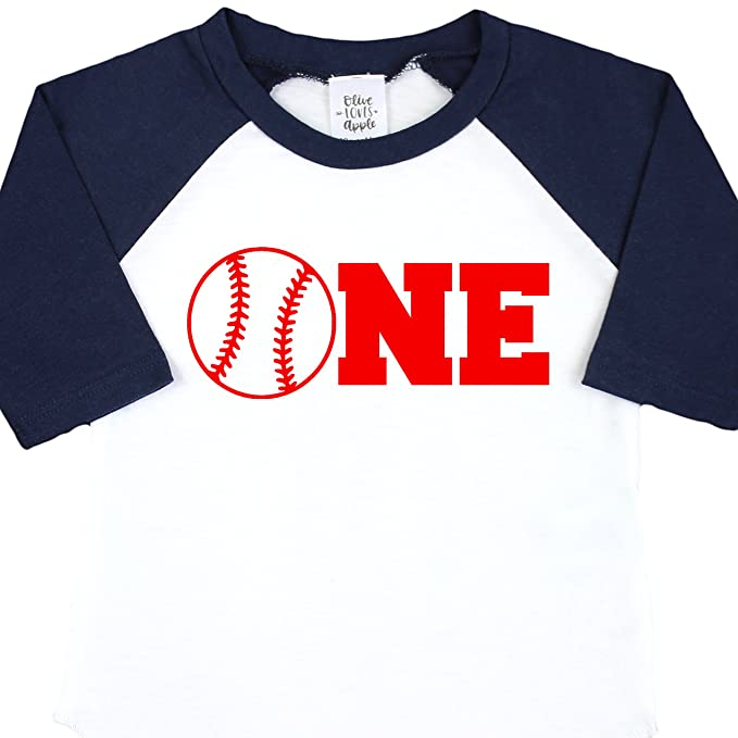 Baseball One Boys Birthday Shirt 1st Blue T For