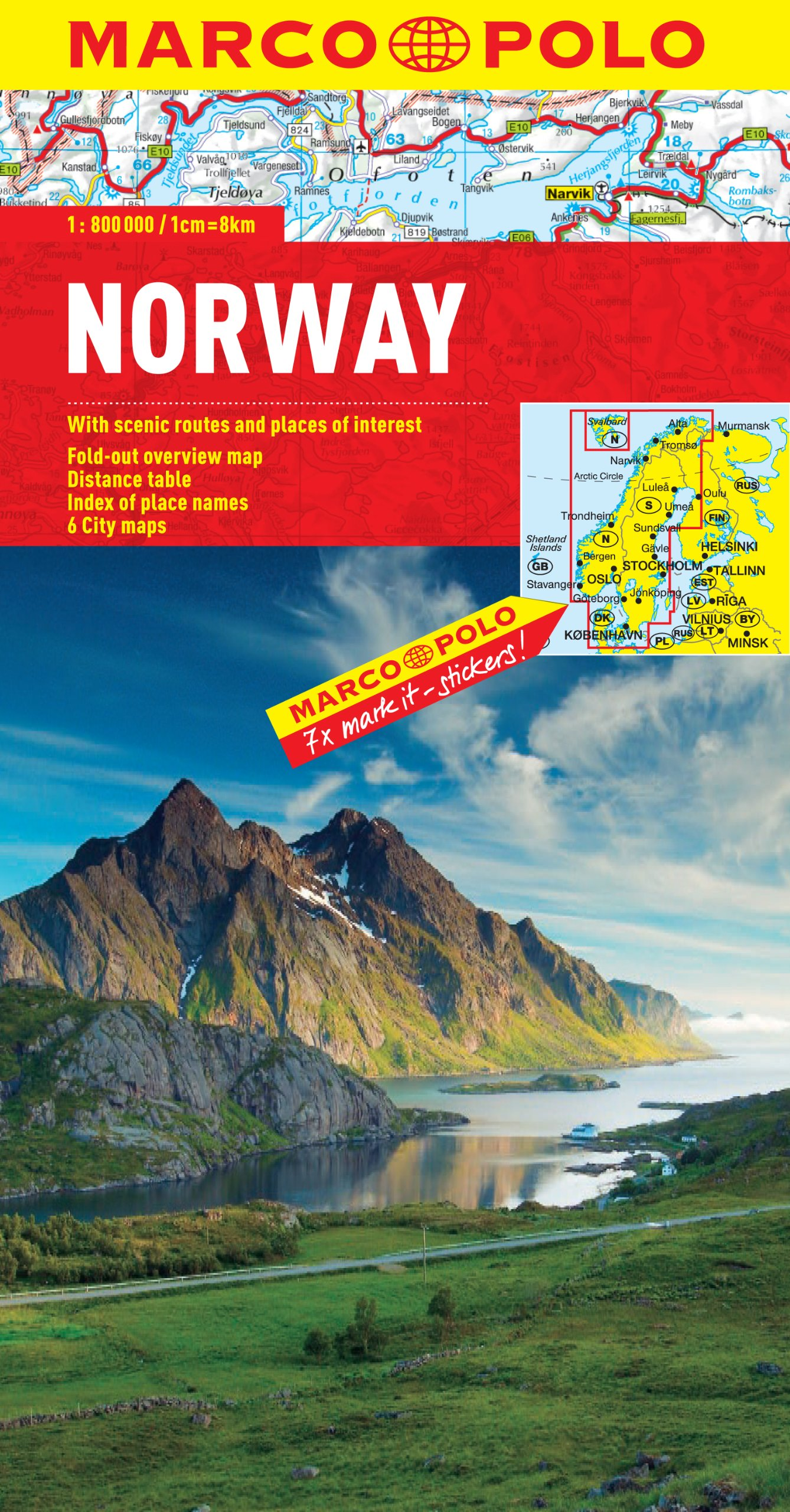 Norway Road Map MH752 Michelin