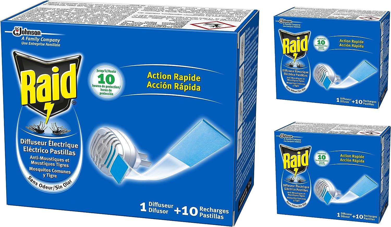 Raid antim. eléc. pastillas aparato - [Pack de 3]