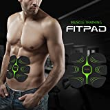 FITPAD Electrostimulateur de Training Musculaire Abdominaux , Appareil de Finess Automatique sans Fil Musculation Minceur Intelligent pour Sculpter Silhouette Elégante