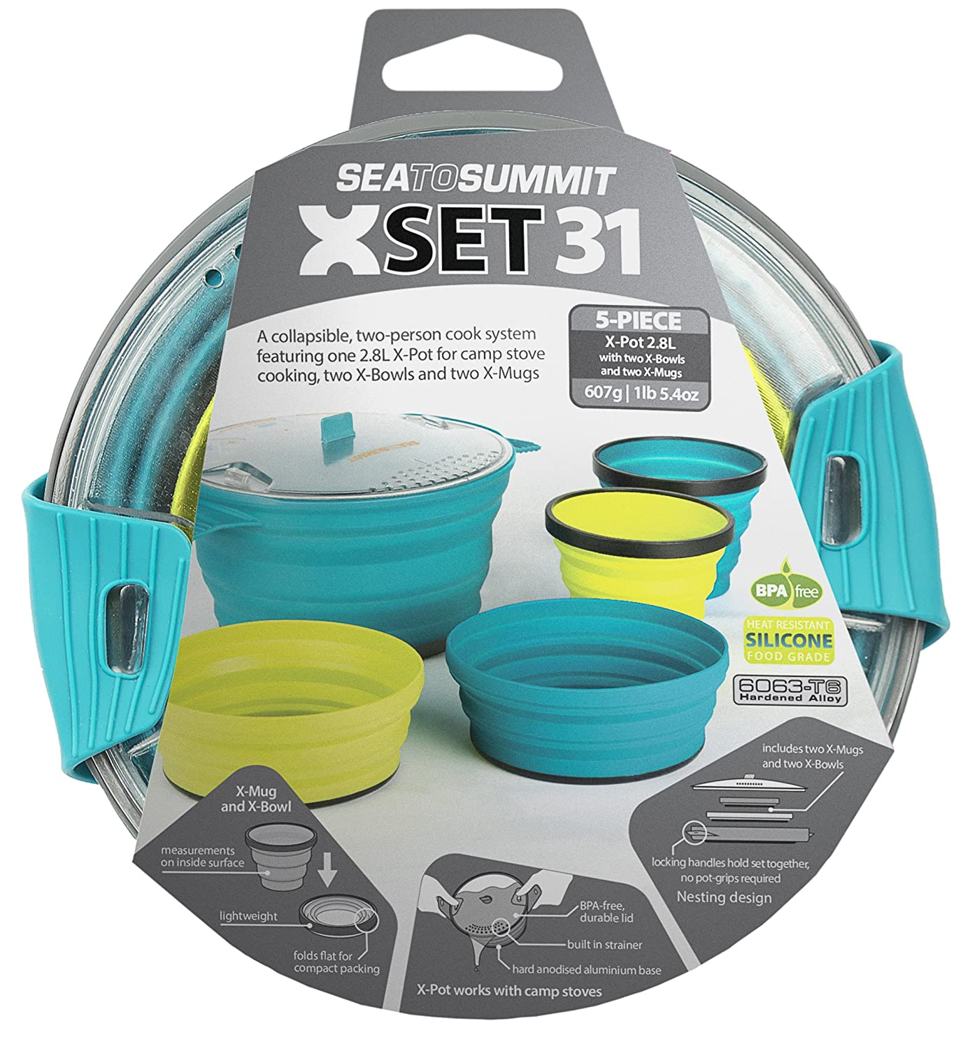 Amazon.com: Sea to Summit X Pot Set (5-Piece): Sea to Summit: Sports ...