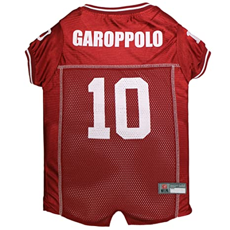 Amazon.com   NFLPA DOG JERSEY - JIMMY GAROPPOLO  10 Pet Jersey - NFL SAN  FRANCISCO 49ERS Mesh Jersey ae96fbc46
