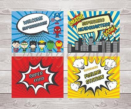 amazon com superhero decorations superhero birthday superhero