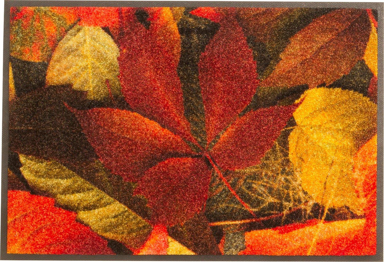 Wash+dry Fußmatte rot braun Größe 60x180 cm