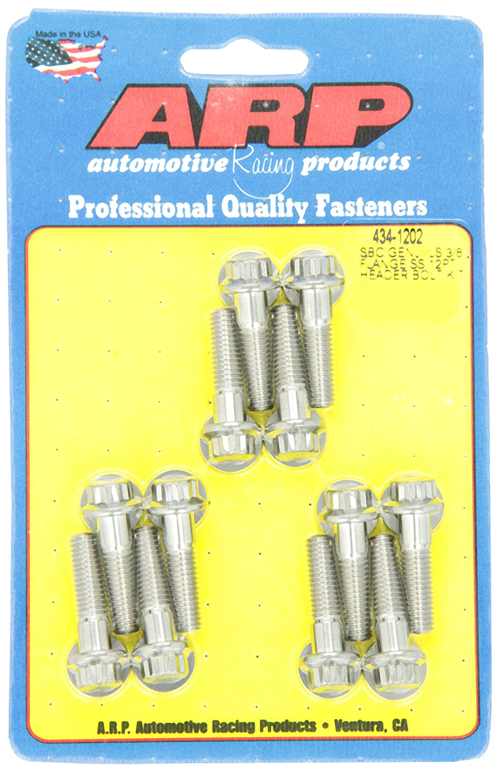 ARP 434-1202 Stainless Steel Header Bolt Kit
