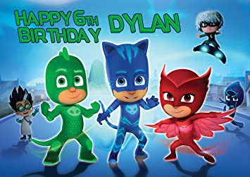 PJ Masks Disney Junior Birthday Cake Personalized Cake Toppers Icing