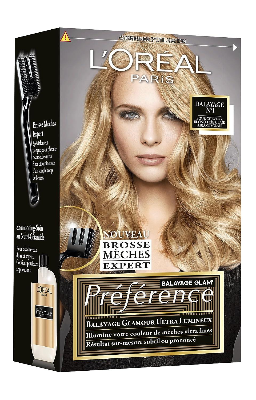 L\u0027Oréal Paris Préférence Balayage Kit Mèches Glam\u0027 Balayage Blond N°1  Amazon.fr Beauté et Parfum