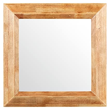 Amazon.com: Stone & Beam Square Rustic Wood Frame Mirror, 25.75\