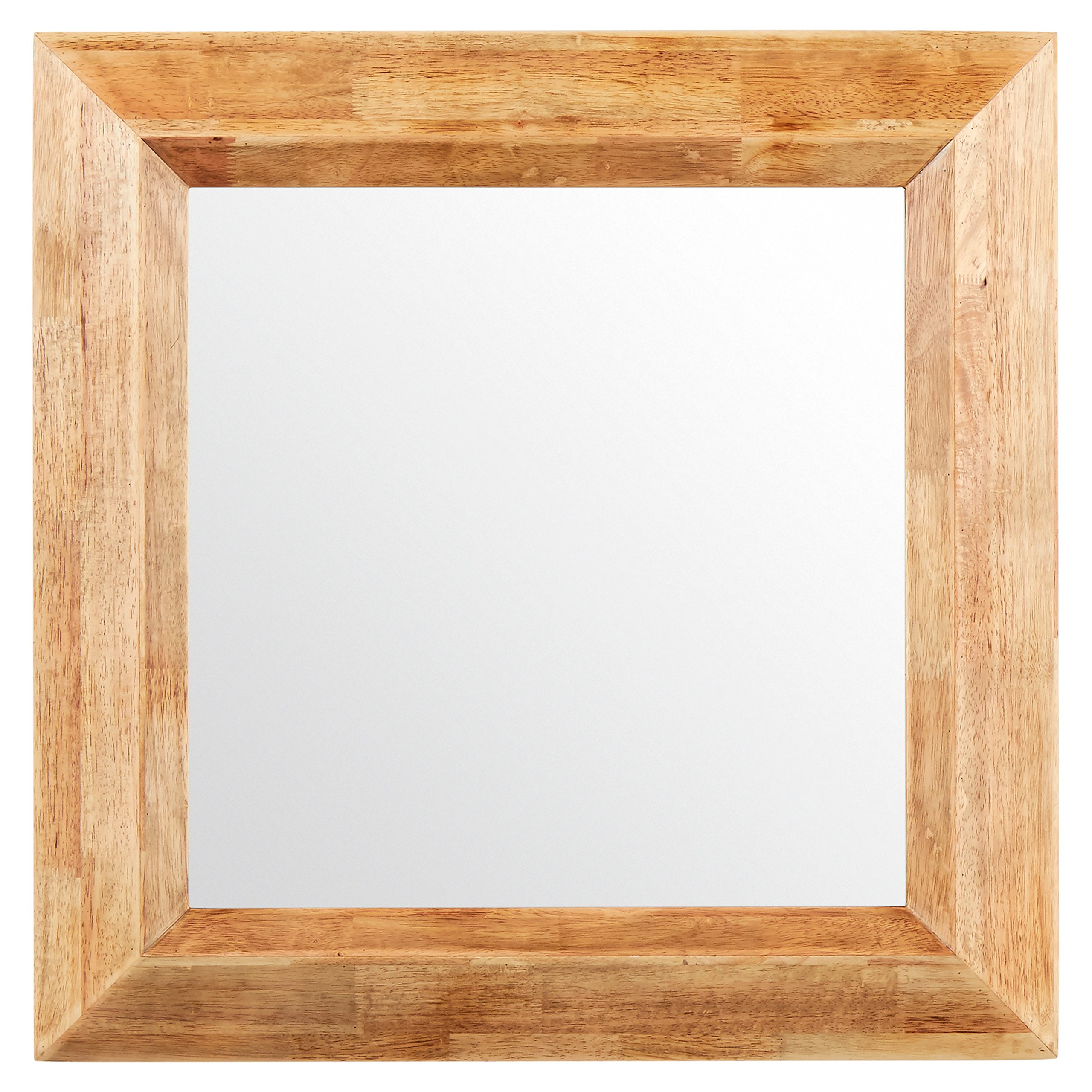 Stone & Beam Square Rustic Wood Frame Mirror, 25.75'' H, Natural by Stone & Beam (Image #7)
