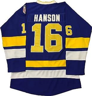 0aa8622aa Jack Hanson  16 Brothers Charlestown Chiefs Jersey Slap Shot Movie Hockey  Charleston Blue