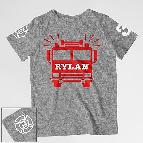 Amazon Firetruck Birthday Shirt Handmade