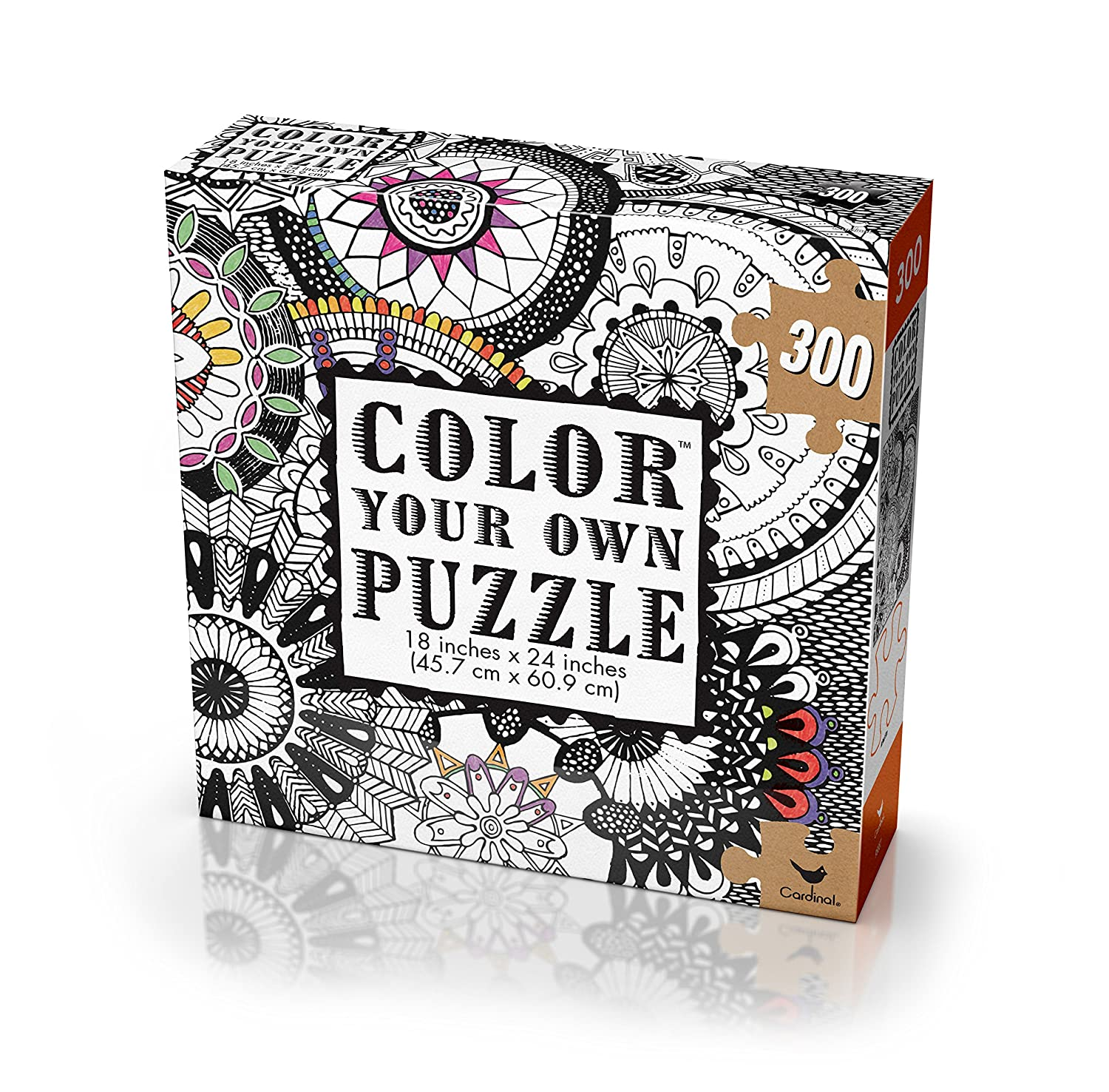 amazoncom cardinal adult coloring puzzle styles may vary toys games