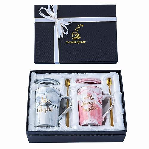 mr and mrs coffee mugs wedding gift mr and mrs mugs set for