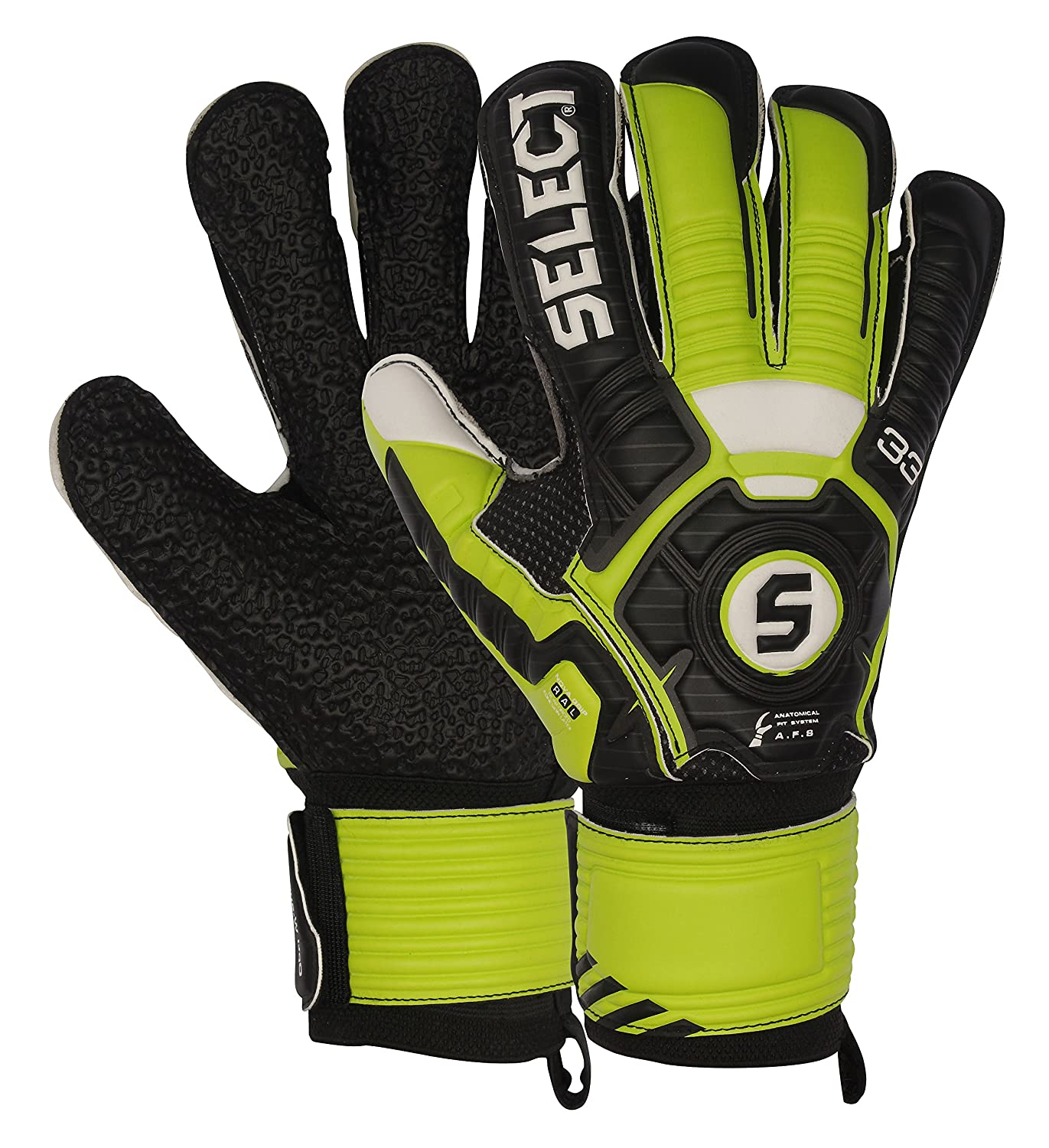 Select 33 Hard Ground Goalkeeper Gloves with Finger Protection