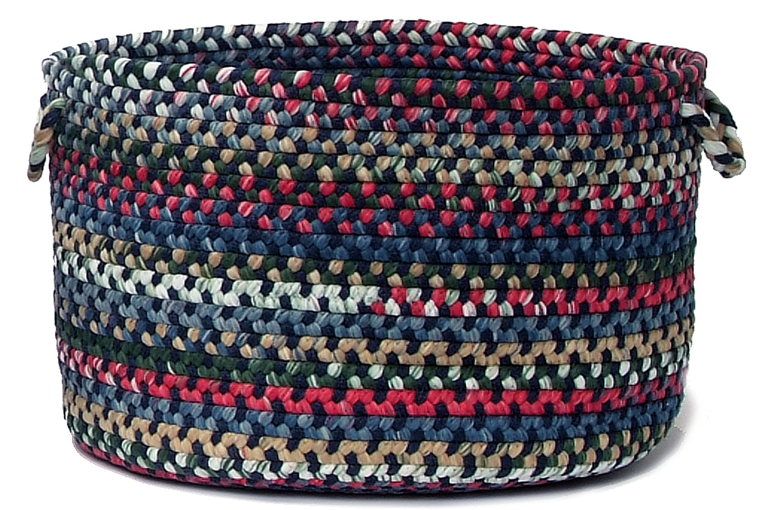 Colonial Mills Chestnut Knoll Utility Basket, 18 by 12-Inch, Baltic Blue