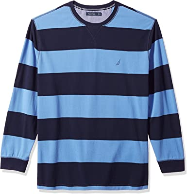 Nautica Hombre Z83106 Manga Larga Camisa polo - Azul - XX Grande ...