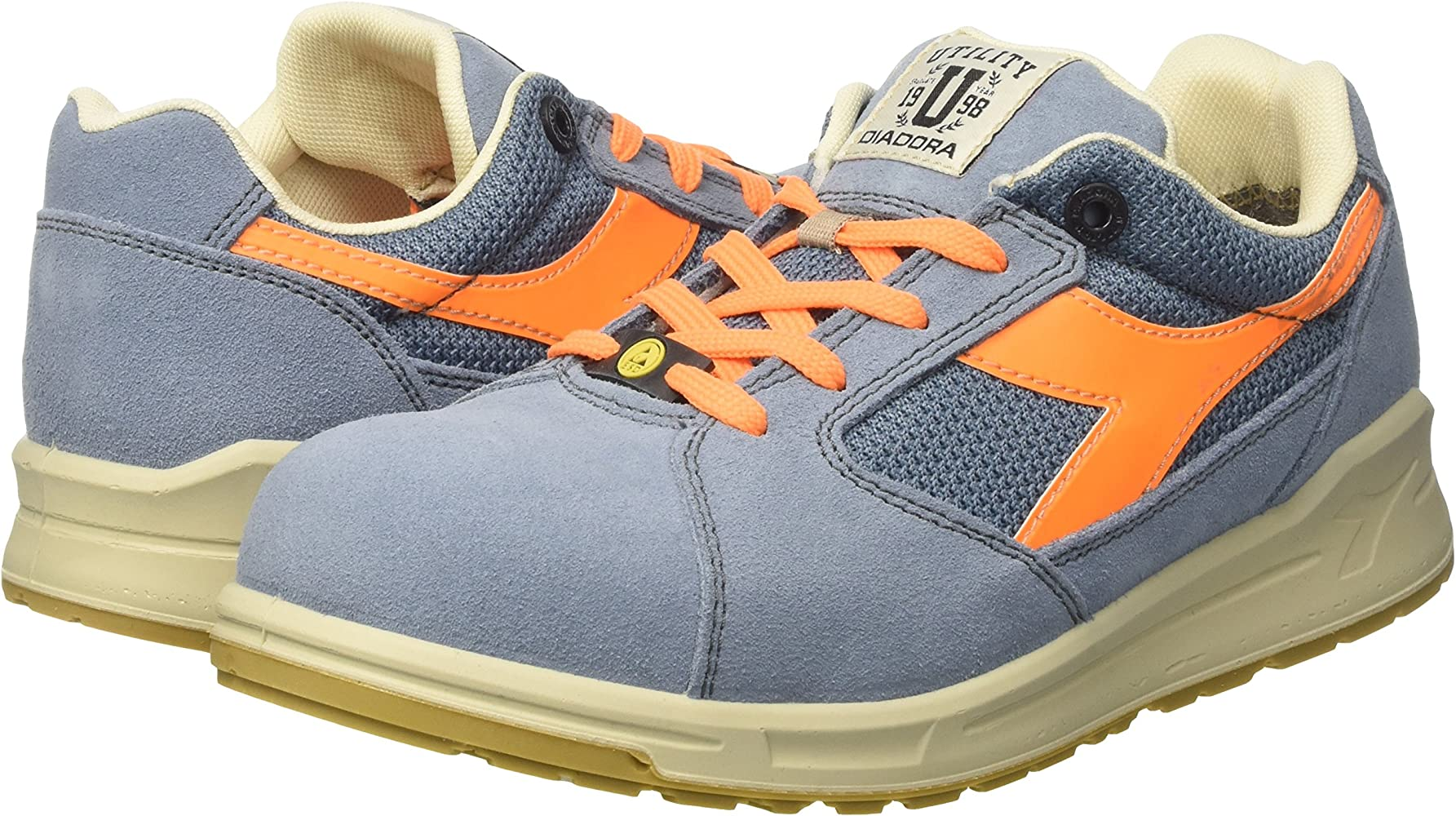 Difettoso Canguro Distruggere  Diadora D-jump Low S1p Esd, Unisex Adults' Work shoes, Blue (Blu Denim  Sbiadito/arancio Flame), 6 UK (39 EU): Amazon.co.uk: Welcome
