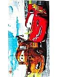 Cars Printed Terry Bath Towel, 20X40 (Light Blue)