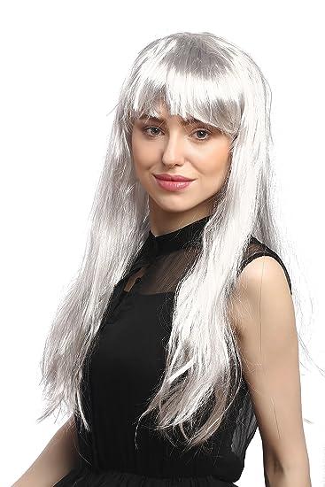 WIG ME UP ® - 31757-P309-Silver Parrucca Donna Carnevale Grigio Argento  Lunga 68cd749438dc