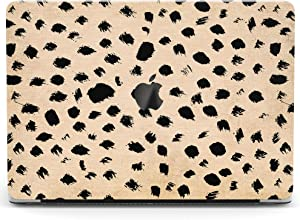Wonder Wild Case for MacBook Air 13 inch Pro 15 2019 2018 Retina 12 11 Apple Hard Mac Protective Cover Touch Bar 2017 2016 2020 Plastic Laptop Leopard Print Pattern Black Spotted Blotch Dots Cute