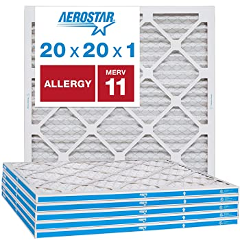 Aerostar 20x20x1 MERV 11 Pleated Furnace Filter