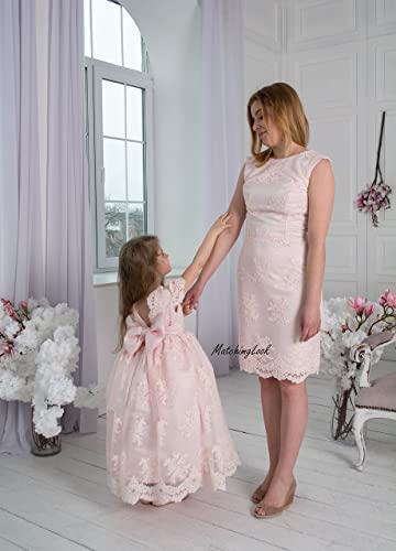 cd475fd412e55 Amazon.com: Pink Mommy and Me outfits, Mother daughter matching dress, Matching  mother daughter outfits, Matching Mom and Baby, Mother Daughter Gift: ...