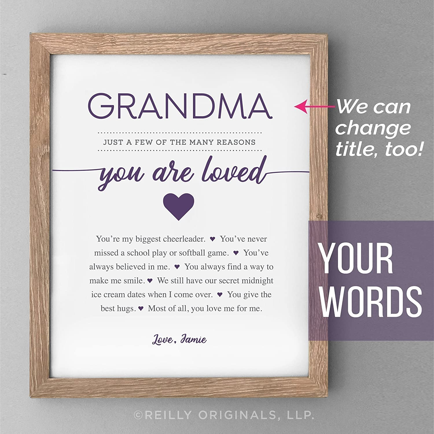 picture about All About Grandma Printable called : Custom-made Grandmother Present - Grandma Moms