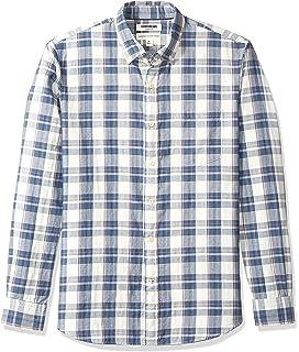 Joe Wenko Mens Easy Care Button Down Long Sleeve Corduroy Casual Shirts