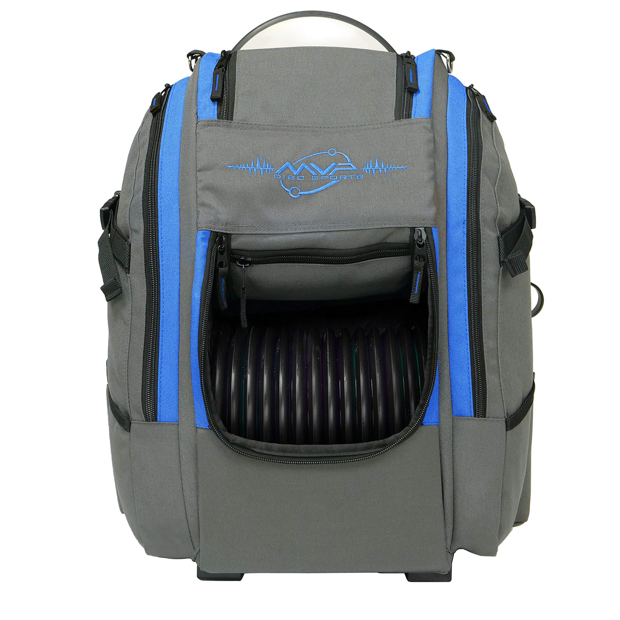 MVP Disc Sports Voyager Slim Bag (Gray/Royal) by MVP Disc Sports