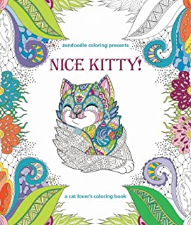 Zendoodle Coloring Presents Nice Kitty A Cat Lovers Book