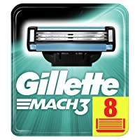 Gillette Mach3 Razor Blades, 8 Refills
