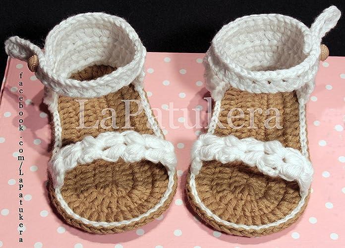Sandalen Booties Modell Trenzada Geflochtene Babyschuhe Häkeln