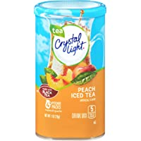 Crystal Light Peach Iced Tea Drink Mix (16 Pitcher Packets, 4 Packs of 4)