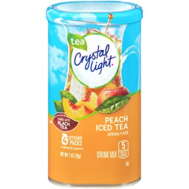 Crystal Light Peach Tea Drink Mix (8-Quart), 1.0-Ounce Packages