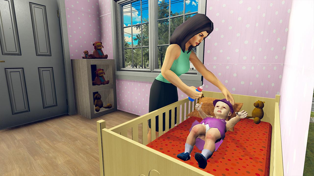 simulador virtual de la madre: juegos de familia feliz