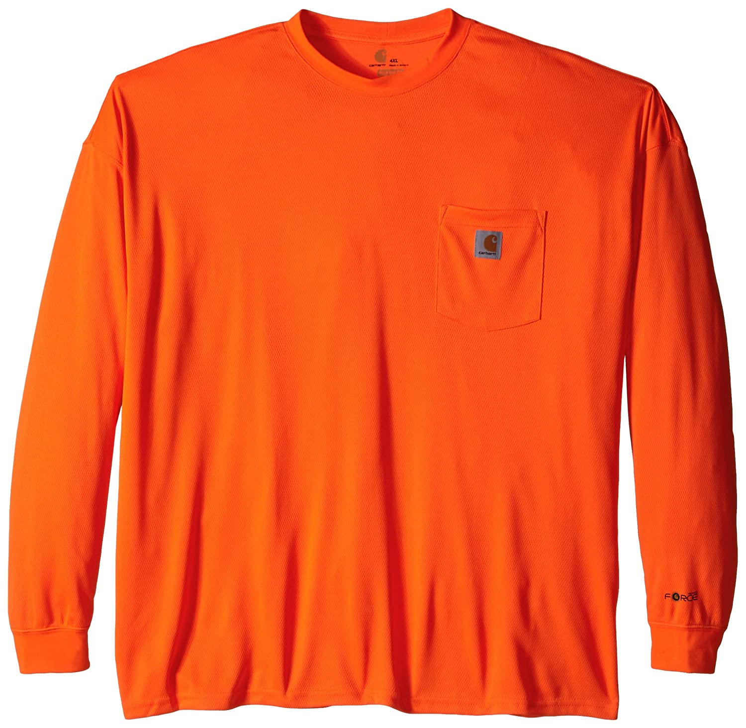 Carhartt Men's Big & Tall High Visibility Force Color Enhanced Long Sleeve T-Shirt Carhartt Sportswear - Mens 100494
