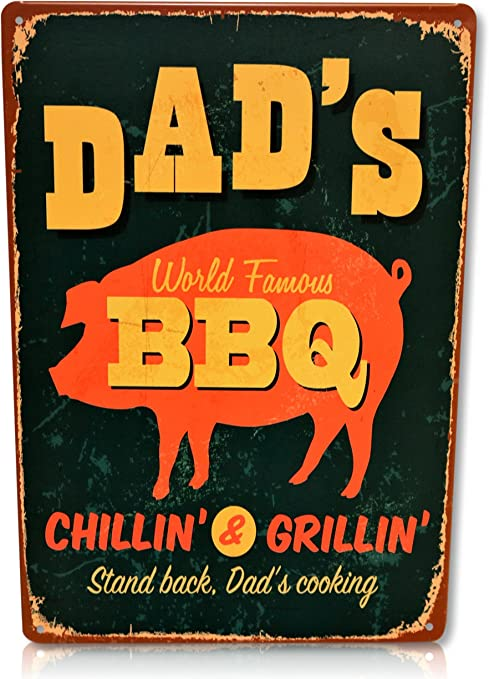 BBQ Cooking Beer Timer Sign Shabby Chic style Fun Plaque Indoor or Outdoor