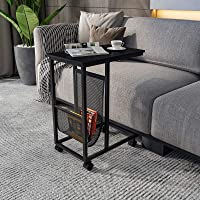 YITAHOME End Table Mobile C-Shaped Side Table Couch Table
