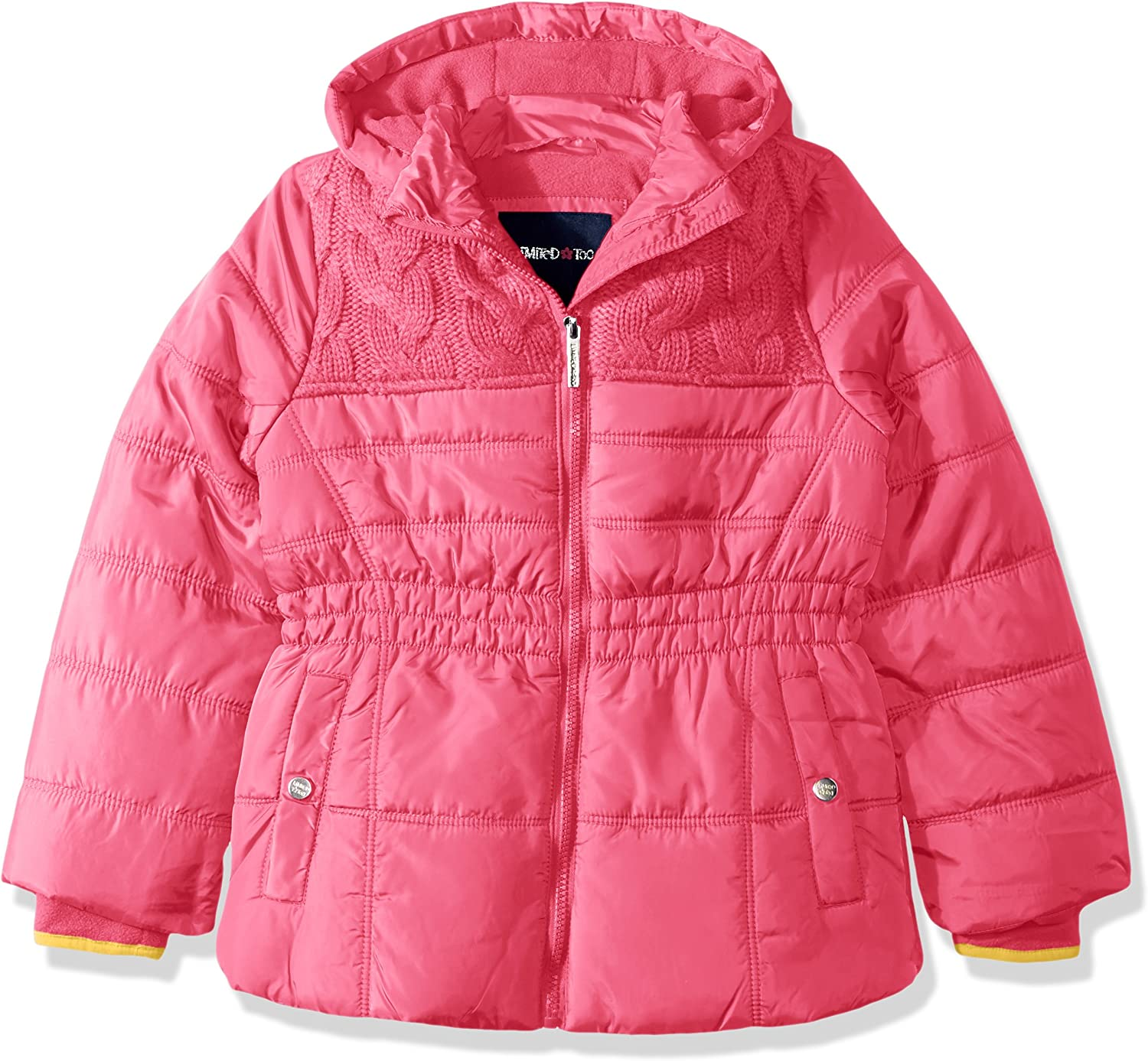 Limited Too Girls Too Puffer W//Sweater Knit Trim