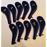 10 Neoprene JL Golf Club Headcovers Head Cover Iron Protect Set long neck choose colour