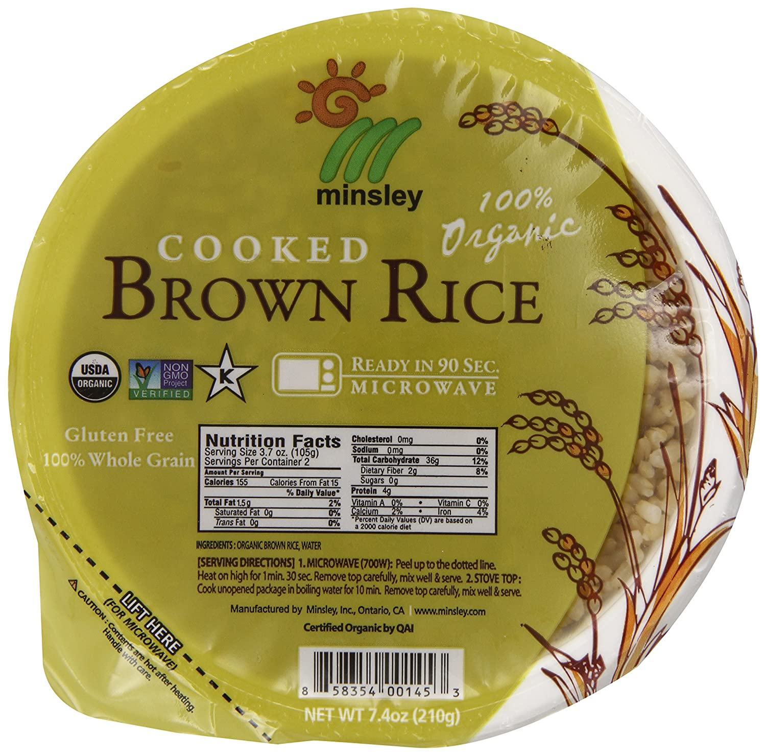 Amazon : Steamed Brown Rice Bowl,anic, Microwaveable, 74ounce  Bowls (pack Of 12) : Prepared Rice Bowls : Grocery & Gourmet Food