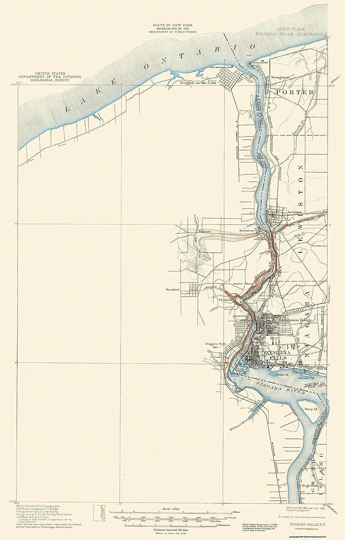 Amazon Com Topographical Map Print Niagara Falls New York
