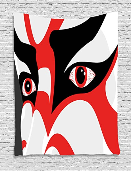 Kabuki máscara decoración tapiz por Ambesonne, japonés teatro Kabuki ...