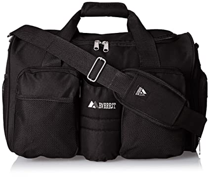 Everest Gym Bag With Wet Pocket Black One Size