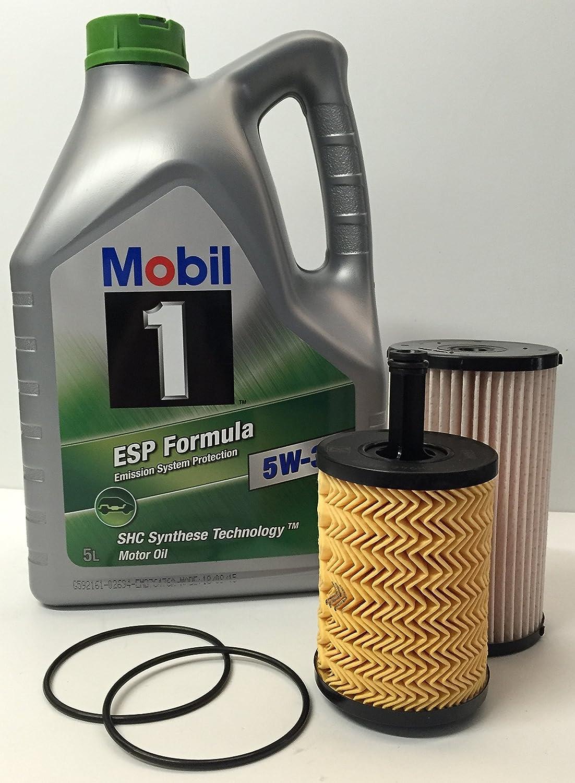 DUO Aceite + Filtros: Lubricante motor MOBIL 1 ESP FORMULA 5W30 5 lts + Filtros FRAM de aceite y combustible para motores VOLKSWAGEN-SEAT-SKODA-AUDI motor ...