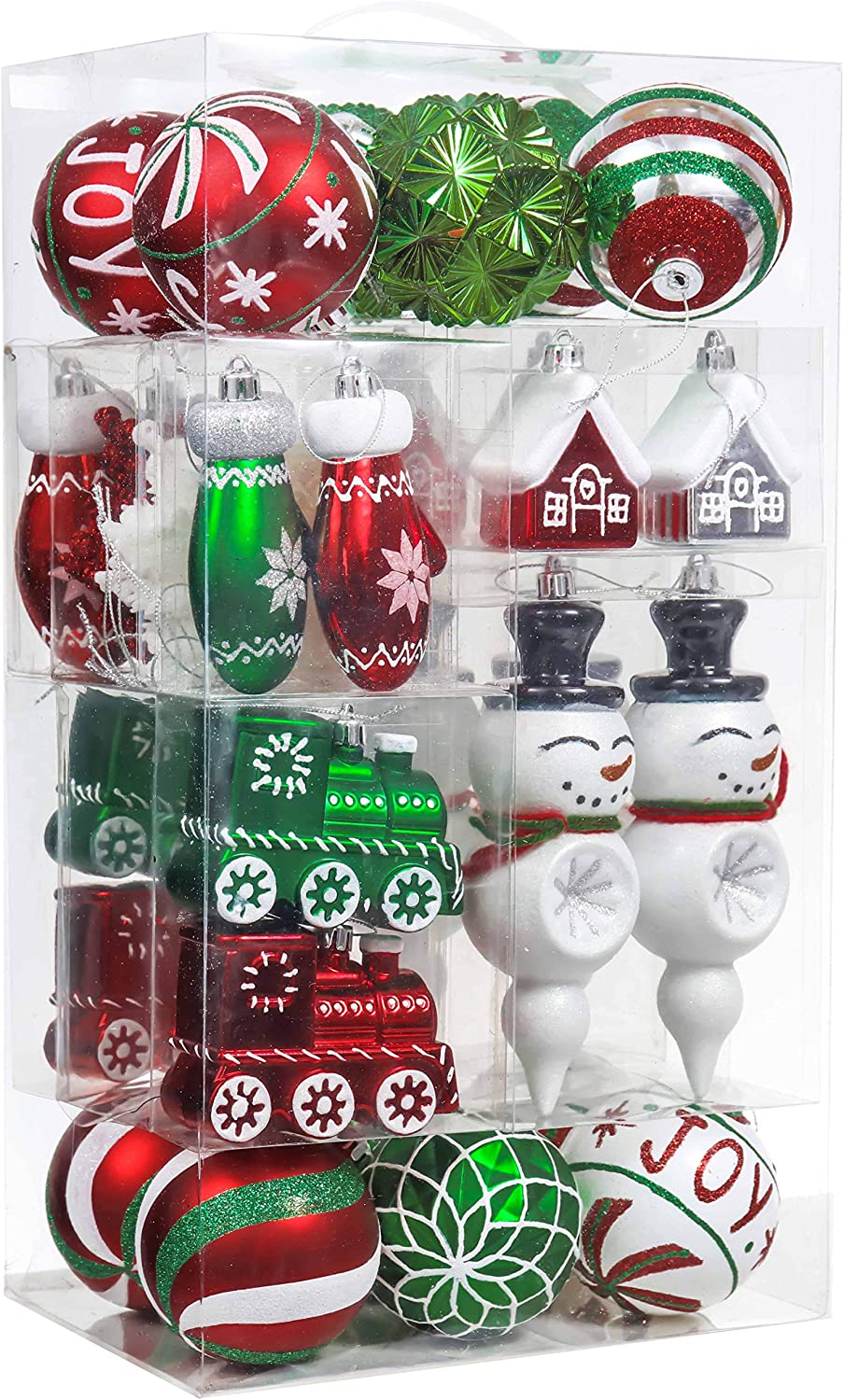 Valery Madelyn 50ct Classic Collection Splendor Shatterproof Christmas Ball Ornaments Decoration New Red Green White Themed With Tree Skirt Not Included Amazon Ca Home Kitchen