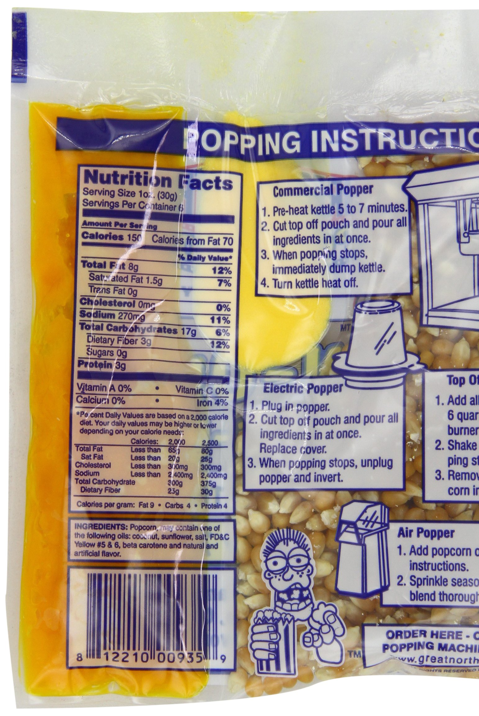4105 Great Northern Popcorn Premium 6 Ounce Popcorn Portion Packs, CASE OF 24 by Great Northern Popcorn Company (Image #4)