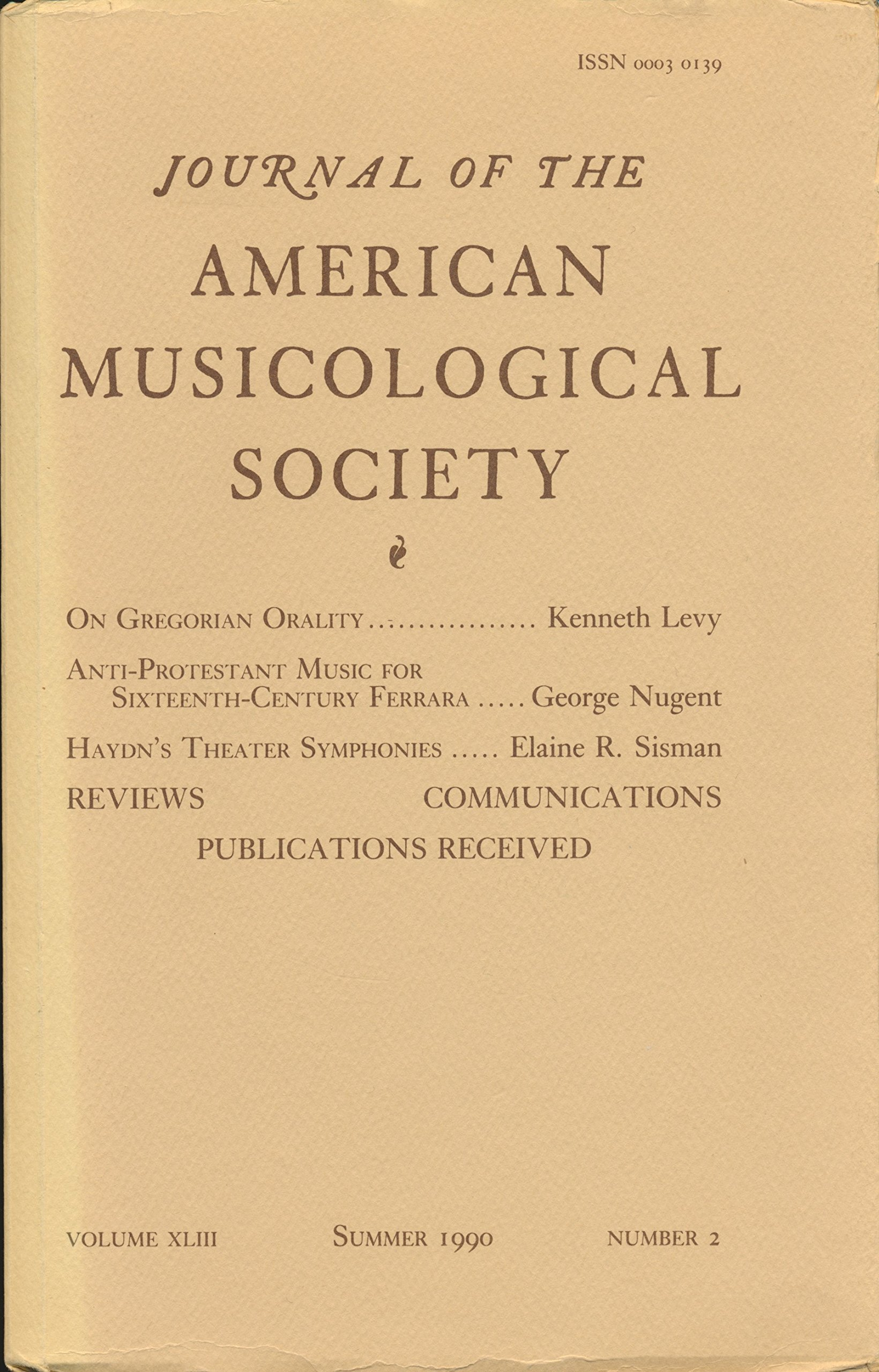 American Musicological Society : On Gregorian Orality