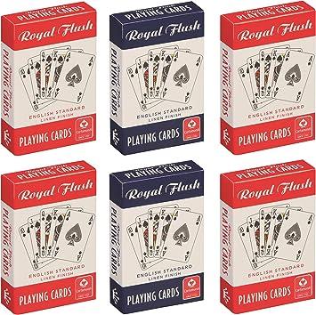 Cartamundi 10000844 Royal Flush estándar Juego de Cartas Juego (Pack de 6): Amazon.es: Juguetes y juegos