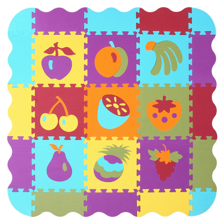 Floor Play Baby Foam Mat|Interlocking Puzzle Playmat for Toddler Kids Children|Tapetes para Bebes Tiles|Large no Toxic Play mat 006B